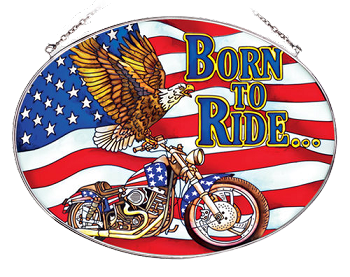Born To Ride American Eagle Suncatcher