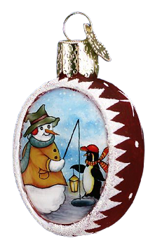 Fishing with the Penguin Ornament
