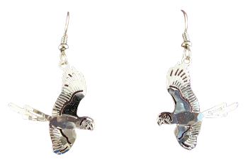Flying Macaw Earrings