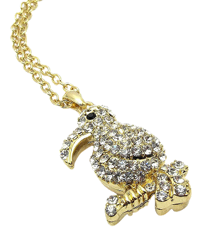 Gold Toucan Necklace