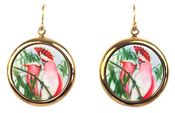Leadbeater's Cockatoo Earrings