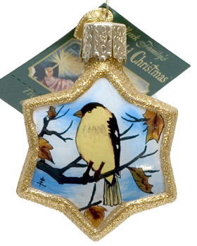 Star Shaped Goldfinch Ornament