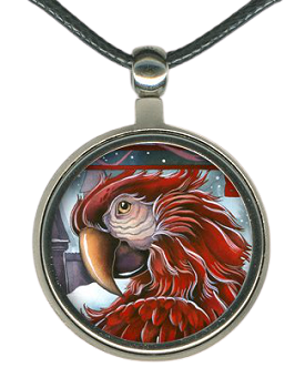Green-Wing Macaw Necklace