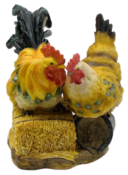 Hen and Rooster Figurine