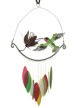 Hummingbird and Flower Wind Chime
