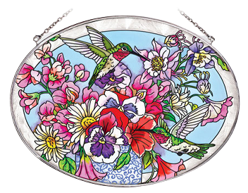 Hummingbirds' Delight Floral Suncatcher