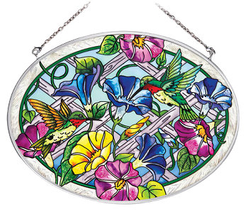 Hummingbirds by Lattice Gate Suncatcher