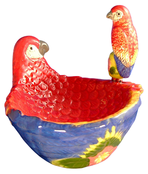 Macaw Bowl with Spreader