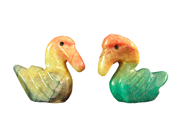 Onyx Pelican Figurines (two shown)
