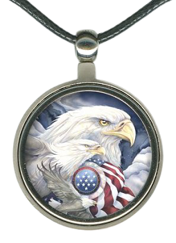 Patriotic Eagles Necklace