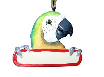 Personalizable Macaw Ornament
