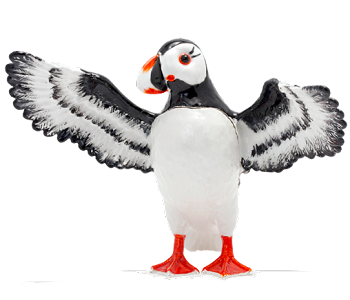 Puffin Jeweled Trinket Box