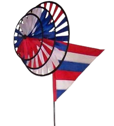 Red White and Blue Triple Spinner