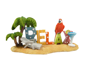 Relax Parrot Table Sign