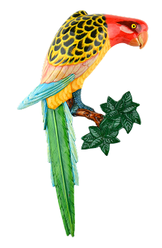 Rosella Wall Plaque