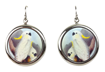 Sulphur Crested Cockatoo Earrings