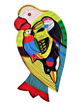 Small Wooden Yellow Macaw Puzzle