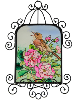 Songbird and Roses Suncatcher