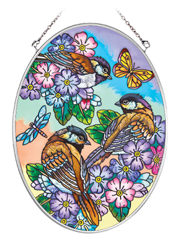 Sparrows and Butterflies Suncatcher