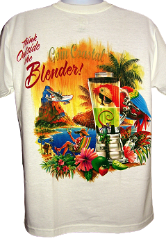 Think Outside the Blender Parrot T-Shirt (Back of Shirt)