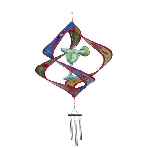 5 O'Clock Somewhere Parrot Twirly Wind Chime