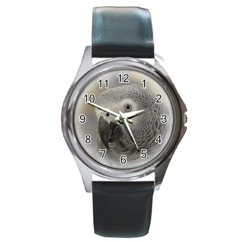African Grey Silver Watch