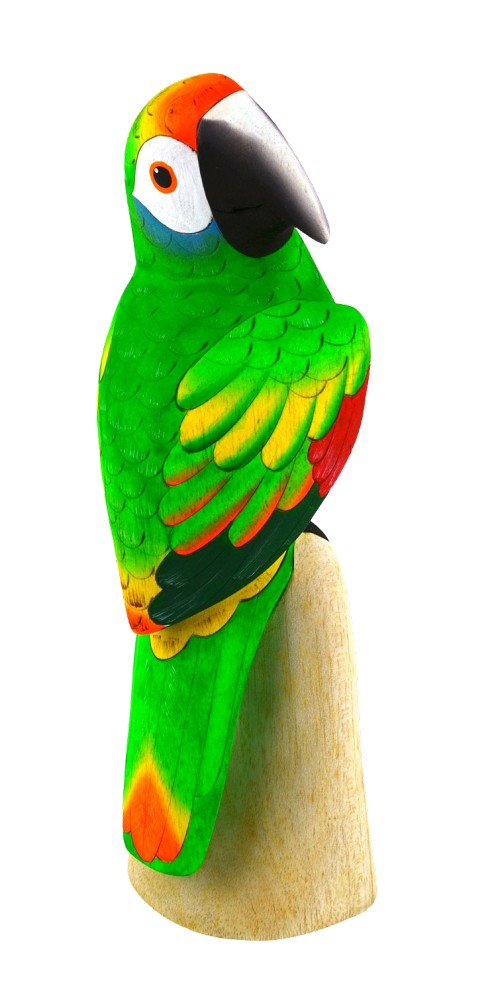 Blue Cheeked Amazon Parrot Figurine