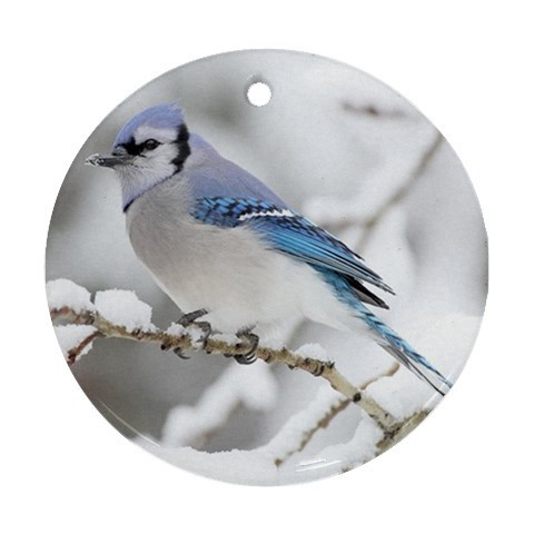 Blue Jay Porcelain Ornament