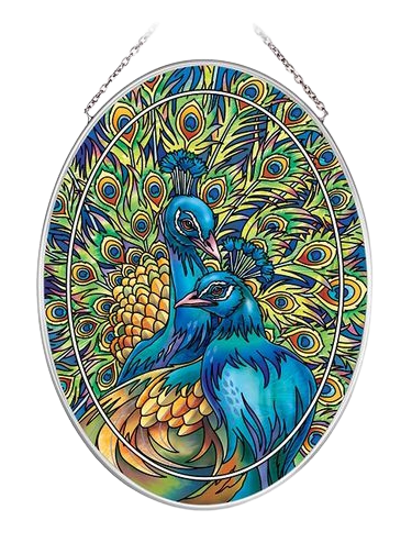 Blue Rhapsody Peacock Suncatcher