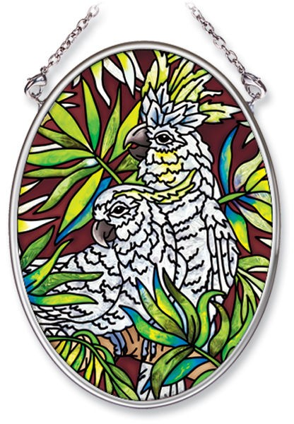 Cockatoo Stained Glass Suncatcher