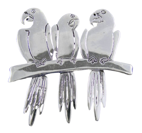 Macaws Pin or Pendant
