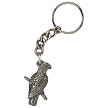 Pewter African Grey Key Ring