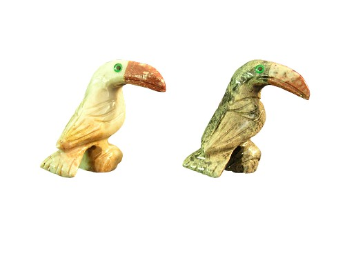Soapstone Toucan Figurines (two shown)