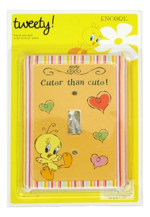 Tweety Bird Switch Plate Cover (Shown in Package)