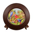 Two Macaws Charger Plate