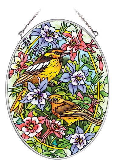 Warblers and Columbines Suncatcher